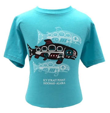 Icy Strait Point Youth Salmon Spirits Tee