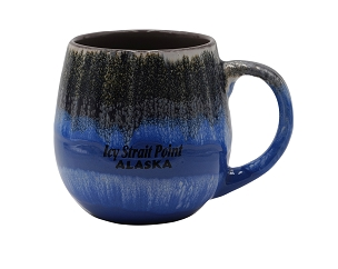 "Icy Strait Point ""Meets the North Sky"" Blue Mug"