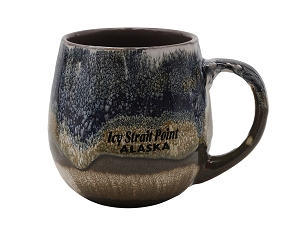 "Icy Strait Point ""Meets the North Sky"" Brown Mug"